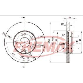 Bremsscheibe Bremsscheibendicke: 22mm, Ø: 262mm mit OEM-Nummer 77.01.205.841