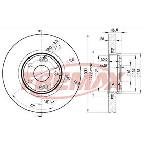 Bremsscheibe Bremsscheibendicke: 26mm, Ø: 300mm mit OEM-Nummer 8671016878