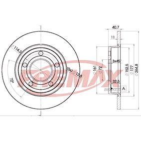 Brake Disc BD-3275 3 (BL) 1.6 MZR CD MY 2013