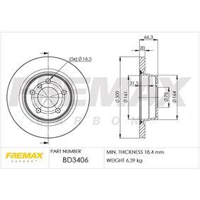 Bremsscheibe Bremsscheibendicke: 20mm, Ø: 300mm mit OEM-Nummer 34216783754