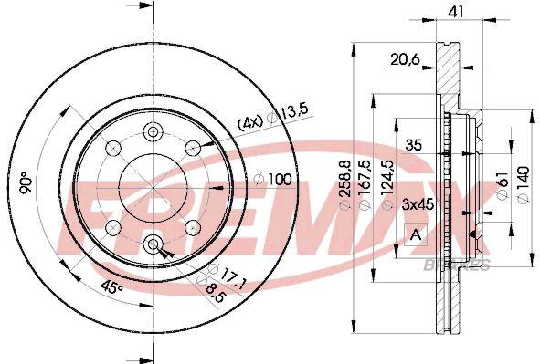 Bremsscheiben BD-3550 FREMAX BD-3550 in Original Qualität