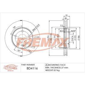 Bremsscheibe Bremsscheibendicke: 30mm, Ø: 296mm, Ø: 296mm mit OEM-Nummer 13501319