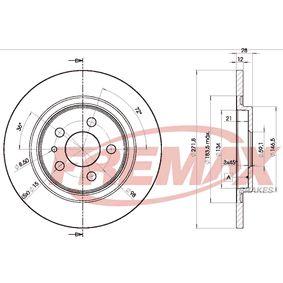 Bremsscheibe Bremsscheibendicke: 12mm, Ø: 272mm mit OEM-Nummer 4246P4