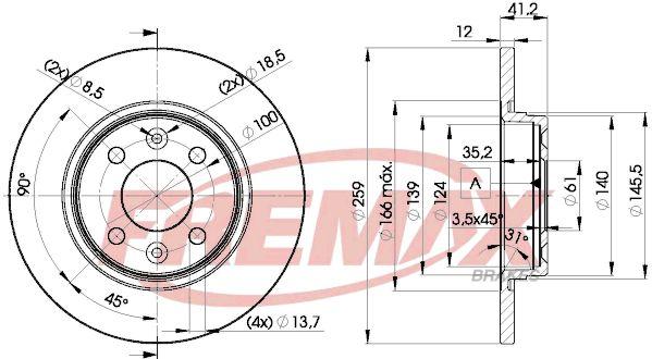 Bremsscheiben BD-4707 FREMAX BD-4707 in Original Qualität