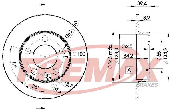 Bremsscheiben BD-5601 FREMAX BD-5601 in Original Qualität