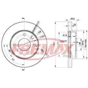 Bremsscheibe Bremsscheibendicke: 22mm, Ø: 257mm mit OEM-Nummer 40206710