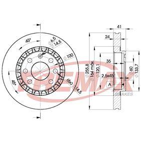 Bremsscheibe Bremsscheibendicke: 24mm, Ø: 256mm, Ø: 256mm mit OEM-Nummer 96215670