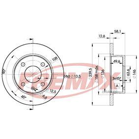 Bremsscheibe Bremsscheibendicke: 12,7mm, Ø: 239,5mm mit OEM-Nummer 6 100 043
