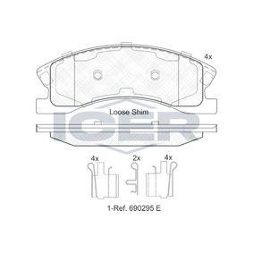 Bremsbelagsatz, Scheibenbremse Höhe: 60,4mm, Dicke/Stärke: 18,6mm mit OEM-Nummer 5093 260AA