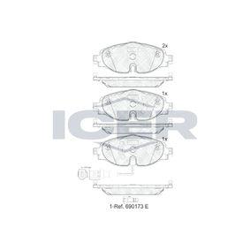 Kit de plaquettes de frein, frein à disque Hauteur: 64,6mm, Épaisseur: 19,9mm avec OEM numéro 5Q0698151A