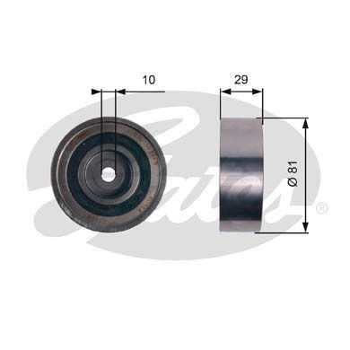 GATES  T42305 Deflection / Guide Pulley, timing belt