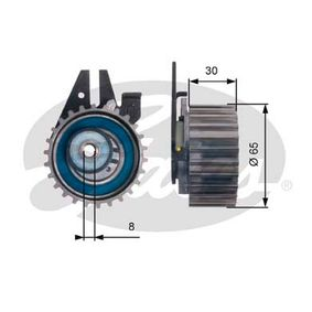 Tensioner Pulley, timing belt Ø: 65mm with OEM Number 636317