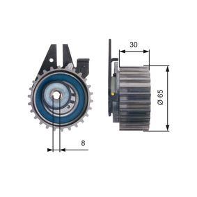 GATES  T43211 Tensioner Pulley, timing belt Ø: 65mm