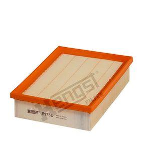 HENGST FILTER  E173L Luftfilter Länge: 244,0mm, Breite: 178,0mm, Höhe: 58,5mm