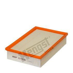 Luftfilter Länge: 275,0mm, Breite: 185,0mm, Höhe: 57,0mm mit OEM-Nummer 6K0 129 607M