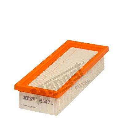 HENGST FILTER  E547L Luftfilter Länge: 230mm, Breite: 90mm, Höhe: 48mm, Länge: 230mm