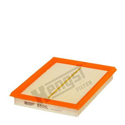 HENGST FILTER  E555L Filtro de aire Long.: 227,0mm, Ancho: 169,0mm, Altura: 31,0mm