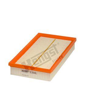 Luftfilter Länge: 287,0mm, Breite: 157,0mm, Höhe: 46,0mm mit OEM-Nummer 1 050 705