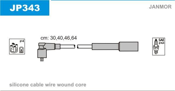 JANMOR  JP343 Juego de cables de encendido Silicona