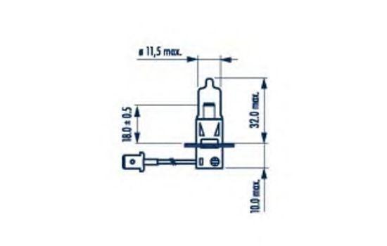 Glühlampe, Fernscheinwerfer 98653 NARVA H3 in Original Qualität