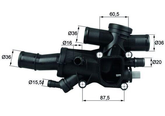 MAHLE ORIGINAL  TH 44 83 Thermostat, coolant