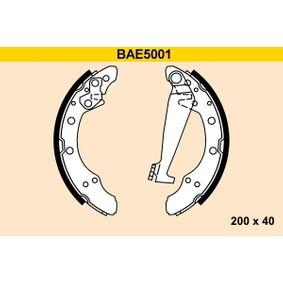 Bremsbackensatz Breite: 40mm mit OEM-Nummer 6Y0 609 526 A