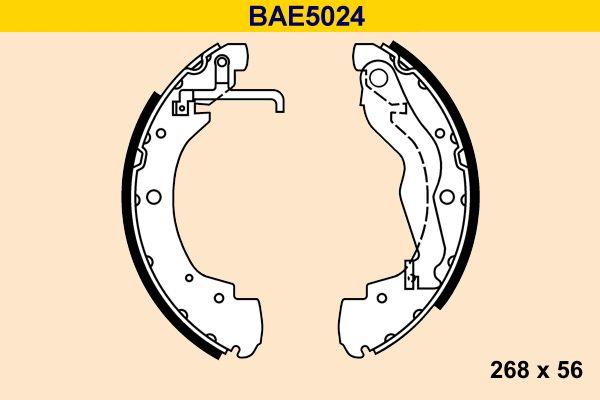 Barum  BAE5024 Bremsbackensatz Breite: 56mm