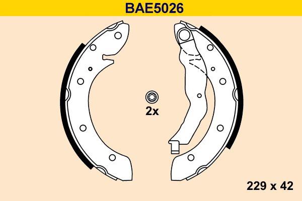 Barum  BAE5026 Bremsbackensatz Breite: 42mm