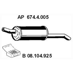 Endschalldämpfer Länge: 840mm, Länge: 840mm mit OEM-Nummer 852 931
