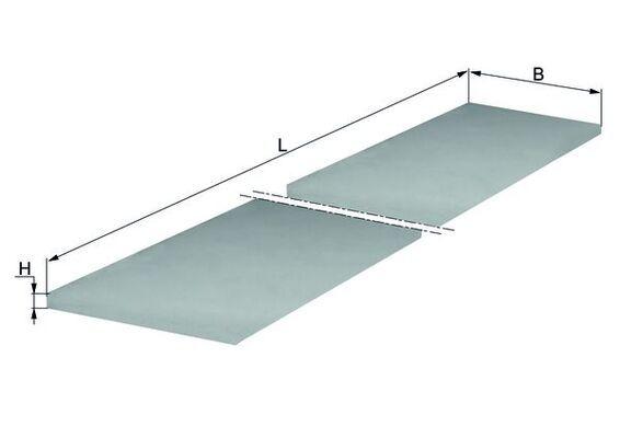 MAHLE ORIGINAL  LAP 7 Filter, Innenraumluft Breite: 240,0mm, Höhe: 20,0mm
