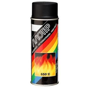 Hitzebeständiger Lack MOTIP 04031 für Auto (Hitzefest schwarz 400, Inhalt: 400ml)