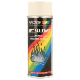 Hitzebeständiger Lack MOTIP 04036 für Auto (Hitzefest weiss 400, Inhalt: 400ml)