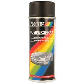 Stoßstangenfarbe MOTIP 04073 für Auto (Stoßstangenspray schwarz 400, Inhalt: 400ml)