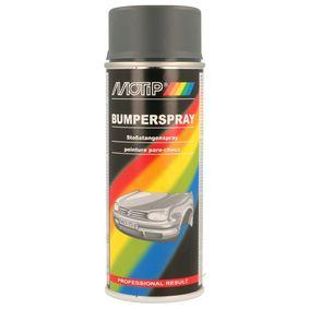 Stoßstangenfarbe MOTIP 04075 für Auto (Stoßstangenspray dkl.grau 400, Inhalt: 400ml)