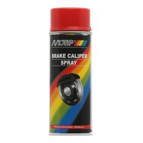 Bremssattellack MOTIP 04098 für Auto (rot, Motip Tun. Brake Cal. red 400, Inhalt: 400ml)