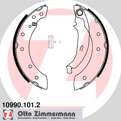 ZIMMERMANN  10990.101.2 Bremsbackensatz Breite: 38mm