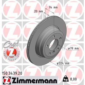 ZIMMERMANN COAT Z 150.3439.20 Bremsscheibe Ø: 324mm