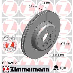 ZIMMERMANN COAT Z 150.3491.20 Bremsscheibe Ø: 348mm
