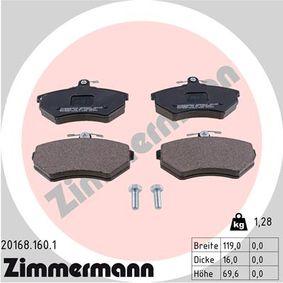 Bremsbelagsatz, Scheibenbremse Breite: 119mm, Höhe: 70mm, Dicke/Stärke: 16mm mit OEM-Nummer 357 698 151 D