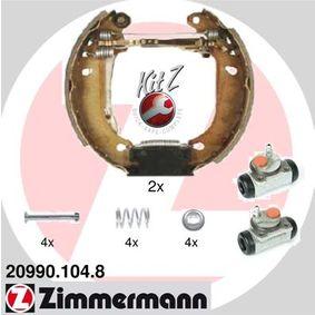 Bremsensatz, Trommelbremse mit OEM-Nummer 7701 205 095
