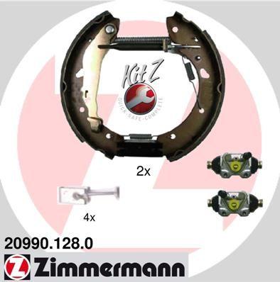 ZIMMERMANN KIT Z 20990.128.0 Bremsensatz, Trommelbremse
