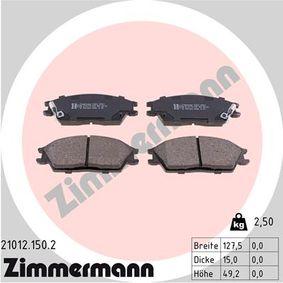 Bremsbelagsatz, Scheibenbremse Breite: 128mm, Höhe: 49mm, Dicke/Stärke: 15mm mit OEM-Nummer 45022-SA6-600