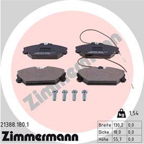 Bremsbelagsatz, Scheibenbremse Breite: 130,2mm, Höhe: 55,7mm, Dicke/Stärke: 18,0mm mit OEM-Nummer 7701203070