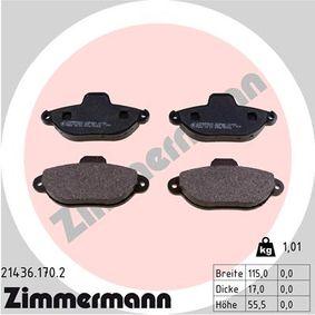 Brake Pad Set, disc brake 21436.170.2 PANDA (169) 1.2 MY 2004