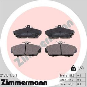 Brake Pad Set, disc brake Width: 129mm, Height: 69mm, Thickness: 18mm with OEM Number 45022-SK3-E00