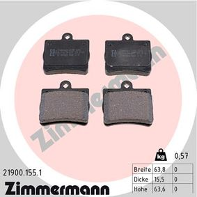 Bremsbelagsatz, Scheibenbremse Breite: 64mm, Höhe: 64mm, Dicke/Stärke: 16mm mit OEM-Nummer A 002 420 5120