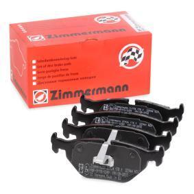 Bremsbelagsatz, Scheibenbremse Breite: 123,2mm, Höhe: 45,2mm, Dicke/Stärke: 17,0mm mit OEM-Nummer 34212157574