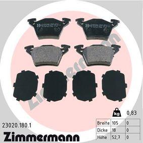 Bremsbelagsatz, Scheibenbremse Breite: 105,0mm, Höhe: 52,7mm, Dicke/Stärke: 18,0mm mit OEM-Nummer A 000 421 4210