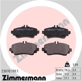 Sensor de Nivel de Combustible MERCEDES-BENZ CLASE A (W168) A 170 CDI (168.008) de Año 07.1998 90 CV: Juego de pastillas de freno (23070.170.1) para de ZIMMERMANN
