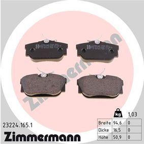 Bremsbelagsatz, Scheibenbremse Breite: 95mm, Höhe: 51mm, Dicke/Stärke: 16mm mit OEM-Nummer 701 698 451 C